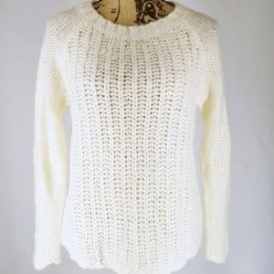 Gap | Ivory Fisherman's Knit Pullover Top (M)